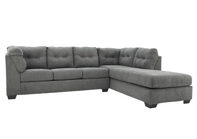 MAIER CHARCOAL 2PC SECTIONAL SLEEPER