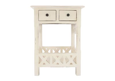 CHRISTIAN IVORY ACCENT TABLE