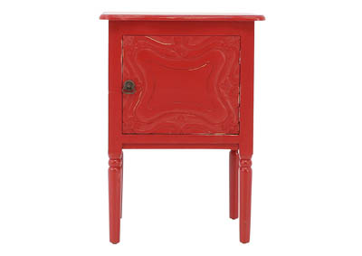CARSON RED ACCENT TABLE