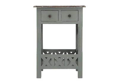 CHRISTIAN LIGHT GRAY ACCENT TABLE