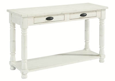 BOBBIN JO'S WHITE CONSOLE TABLE